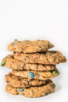 These ultimate monster cookies are filled with oats, chocolate chips, peanut butter, and M & M's and are so easy!