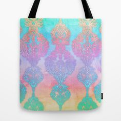 The Ups and Downs of Rainbow Doodles Tote Bag by micklyn - $22.00