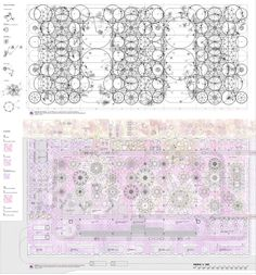 architectural-review:  An intricate drawing from Peter Cook's book 'Drawing, The Motive Force of Architecture' Izaskun Chinchilla, Competition design for Matadero de Madrid © Izaskun Chinchilla Moreno