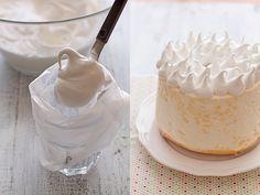 Angel food cake, ¡y sin gluten! Torta Angel, Angel Food Cake, Vanilla Cake, Cake Recipes, Gluten Free, Birthday Cake, Tasty, Cookies, Queso