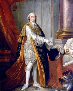 Luis Estanislao Javier de Francia ,Conde de Provensa ,cuñado de María Antonieta y futuro Luis XVIII-1773 por Francois -Hubert   Drouais.