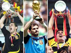 Casillas,  Euro 2008, Mundo 2010, Euro 2012