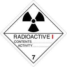 Señal peligros clase 7. Materias radiactivas