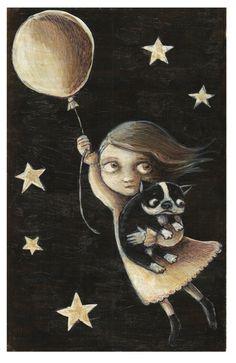Boston Balloon Escape -- Giclee Art Print on Etsy, $18.00