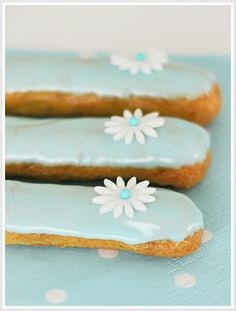 Beautifully Colored Eclairs