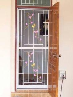 New Metal Door Grill Irons Ideas Home Window Grill Design, Railing Design, Window Design, Front Door, Grill Gate Design, Modern Window Design, Iron Front Door, Grill Door Design, Metal Door