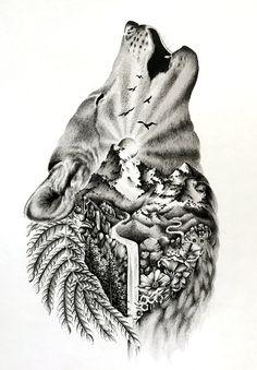 Wild tattoo best sleeve tattoos, wolf tattoos и tattoo desig Wolf Tattoo Sleeve, Best Sleeve Tattoos, Sleeve Tattoos For Women, Tattoo Sleeve Designs, Tattoo Designs Men, Cute Tattoos, Body Art Tattoos, Sleeve Tattoo For Guys, Lone Wolf Tattoo
