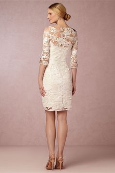 Gabrielle Embroidered Dress from @BHLDN