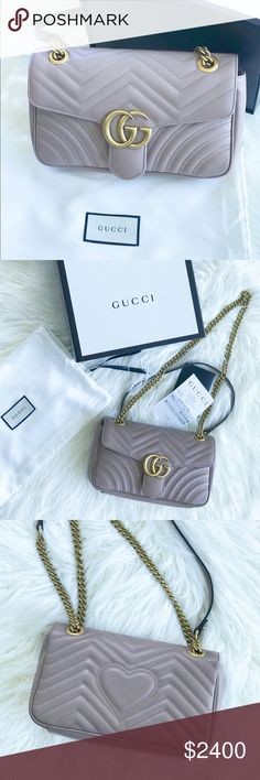 8c12a0993ce7 Rose Gucci Marmont Small Shoulder Bag  AUTHENTIC  Brand new Gucci small  flap bag in
