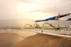 Fishing boat on Candidasa White Sand Beach. Photo by Raditya Margi.