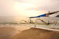 Fishing boat on Candidasa White Sand Beach. Photo by Raditya Margi.