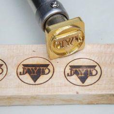 Temperature Adjustable Custom Wood Branding Iron with electric heater Heat Embossing
