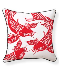 Look what I found on #zulily! Koi Reversible Throw Pillow #zulilyfinds