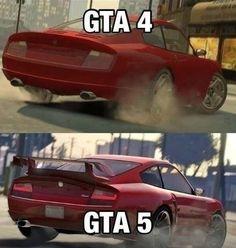 GTA 4 vs GTA 5 #geek