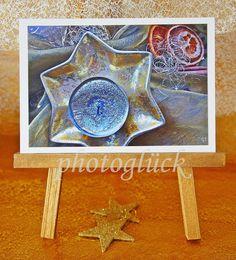 """Weihnachten - Weihnachtskarte """"Silberlicht"""" - ein Designerstück von Gabriele-Jentsch bei DaWanda"""