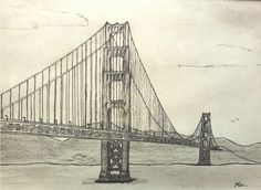 #GoldenGateBridge #Art #Drawing