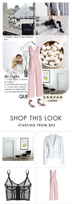 """""""Paint Your Look With Canvas by Lands' End: Contest Entry"""" by mademoiselledeea ❤ liked on Polyvore featuring Prada, Canvas by Lands' End, Kiki de Montparnasse and Lands' End"""