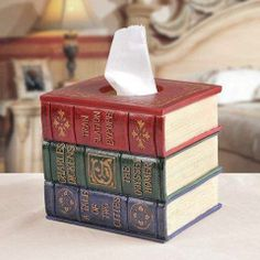 Book kleenex cover... Want this