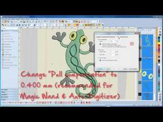 BERNINA Embroidery Software 7: how to work with graphics / Auto-Digitizing - YouTube