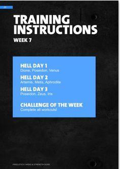 Séptima semana de trabajo. #week7 # freeletics