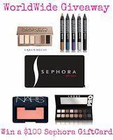 Beauty Makeup Addict: Worldwide Group Giveaway! $100 Sephora Gift Card