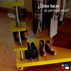 ¿Cómo hacer un perchero móvil? #Sodimac #Homecenter #DIY #HUM