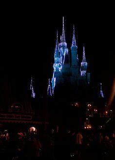 Christmas Lights at the Magic Kingdom