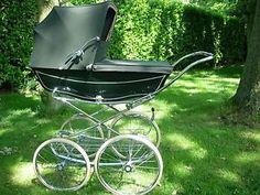 VINTAGE-GREEN-MARMET-COACHBUILT-BABYS-PRAM-WITH-SUN-CANOPY  Handy on most people http://www.geojono.com/