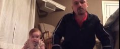 This is laugh out loud funny and very cute.  Dad's Baby-Inspired Workout Is 90 Seconds Of Adorable Genius