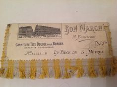"""Antique french embellishment head bedding carton display from the """"Bon marché"""", 1880s, french shabby, antique bed garnish, shabby chic"""