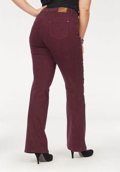 2c561a7bc0a4 Neckermann SALE   Damen Arizona Bootcut-Jeans Comfort-Fit bordeaux,rot    08941100194744