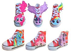 My Little Pony Merch News: Shwings and Things My Little Pony Shoe Accessories Coming Soon My Little Pony Shoes, My Little Pony Party, Pinky Pie, Camisa My Little Pony, Mlp, Rarity, Filly, Converse, Shoes