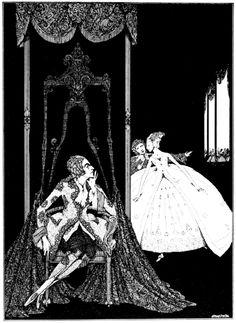 Peau d'Âne,Illustration in The fairy tales of Charles Perrault,1628-1703; Clarke, Harry, 1889-1931, illustrator. London: Harrap (1922)-сборник сказок-