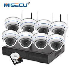 MISECU 720P 8 Channel Wifi VGA/HDMI plug&play Vandalproof night vision 4TB HDD Wireless nvr Eseenet APP WIFI IP Security system
