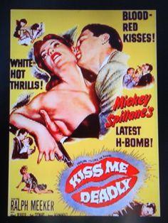 """Kiss Me Deadly""  Film Noir Movie Poster."