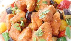 鮭と夏野菜フリット 万能トマトごまダレ