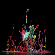 Mark Mawson | British photographer | Paint Dropped In Water | Tutt'Art@ | Pittura * Scultura * Poesia * Musica |