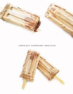 chocolate cheesecake popsicles