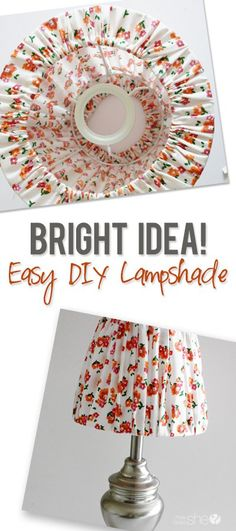 Love this gathered lampshade! Definitely the way I'm going to go when I do mine. KL