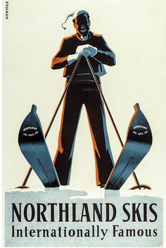 Northland Skis, 1935, by Kramer.  Part of the Robert W. Johnston archive.