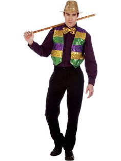 Sequin Mardi Gras Vest | Wholesale Classic Costumes for Adults