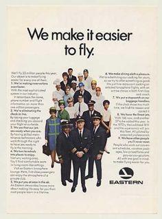 Eastern Airlines Crew Pilot Stewardess Mechanic (1968)