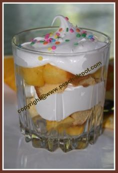 PEACH TRIFLE - WITH or WITHOUT pound cake! EASY QUICK AND SCRUMPTIOUS!