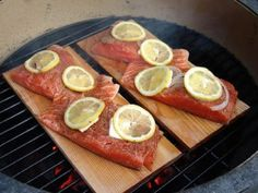 Big T's Big Green Egg Recipe Blog: Prudhomme's Cedar Plank Grilled Salmon