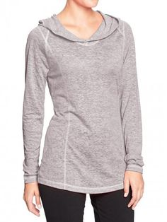 Old+Navy+Women's+Active+by+Lightweight+Hooded+Tunic+Heather+Gray+|+Top,+Cloak+and+Clothing