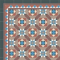 London Mosaic Victorian tile design: Bowood 50 - multi coloured, traditional victorian, floor tiles