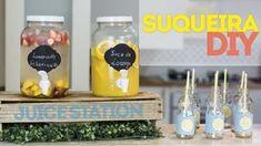 Aprenda a fazer uma suqueira em casa com vidro de conserva e torneira de filtro. Veja também como fazer sucos e montar na suqueira. Para servir, mostro uma e...
