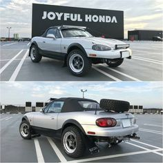 topmiata Meanwhile in Japan #TopMiata (Owner: yos370 on Twitter) #offroadster #offroadmiata #mazda #nbmx5 #miata #mx5 #Roadster Miata Car, Mazda Miata, Race Car Track, Adventure Car, Convertible, Monster Car, Offroader, Lifted Cars, Nissan 350z