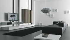 Furniture: Traditional Contemporary Black Living Room Furniture Also Contemporary Fabric Living Room Furniture from Contemporary Living Room Furniture For Contemporary Room Black And White Furniture, Black And White Living Room, Black White, Black Sofa, Minimalist Living Room Furniture, Tv Cabinet Design, Room Furniture Design, Furniture Ideas, Tv Furniture