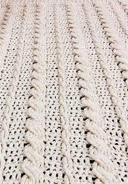 Afbeeldingsresultaat voor bulky cable crochet stitch pattern